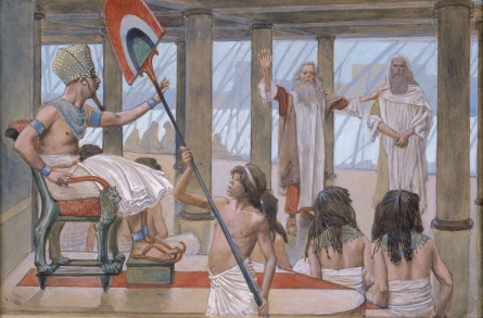 Tissot_Moses_Speaks_to_Pharaoh